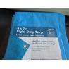 Buy cheap Waterproof 5X7ft 90g blue HDPE woven fabric tarpaulin from wholesalers