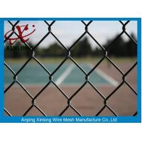 Wholesale Beautiful Black Chain Link Fencing , Fence Chain Link For Basket Playground from china suppliers