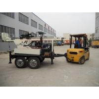 Wholesale 4 Wheel Trailer Well Digger Machine , Portable Hydraulic Rotation Drilling  Water Well Equipment from china suppliers