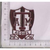 Wholesale Texas ATM Aggies NCAA College Vintage Shield Team Logo Patch Iron On from china suppliers