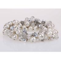 Wholesale Costume Jewelry Pearl And Diamond Bangle Bracelet For Graduation Party / Anniversary from china suppliers