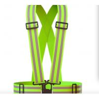 China Acid Proof Reflective Safety Vest , Personalized Safety VestFor Running / Cycling for sale