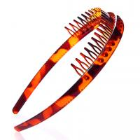 Wholesale Wholesale 2~3cm plastic hair bands black&brown color hair ornament from china suppliers