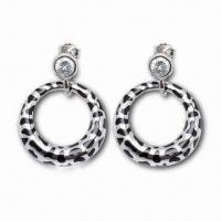 Wholesale Drop Earrings, Customized Designs are Accepted, Made of Sterling Silver from china suppliers
