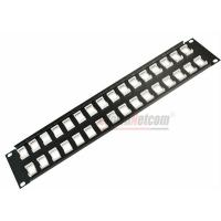 "Wholesale 19""  UTP/STP 32Port  Unload Modular Blank Patch Panel Available For Cat5e Cat6 Couplers and Keystone Jacks from china suppliers"