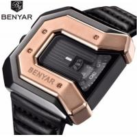Wholesale Wholesale Creative Men Genuine Leather Strap Waterproof 30m Square Dial Casual Wrist Watches BY-5116 from china suppliers