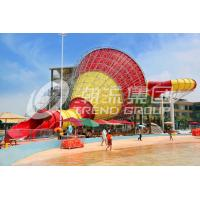 Wholesale Funny Giant Fiberglass Water Slides , Super Tornado Water Slide 720rider/H Capicity from china suppliers