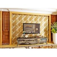 Wholesale Luxurious Modern Style Wallpaper with Removable Gold Foil Material , Geometric Pattern from china suppliers