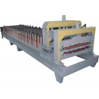 Wholesale Automatical Roof Glazed Tile Roll Forming Machine With PANASONIC PLC Computer Control from china suppliers