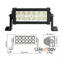 """7.5"""" 36W ip67 offroad driving led light bar,10-30V double rows led bar"""