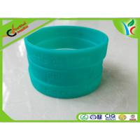 Quality Eco-friendly Silicone Wrist Bracelets Green Flexible For Children for sale