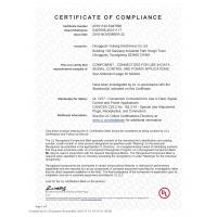Yuliang Electronics Co.,Limited Certifications
