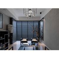 Wholesale Removable Vinyl Contemporary Wall Coverings with Grey Leaf Pattern For Study Room from china suppliers