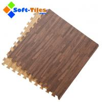 Wholesale Dark Wood Effect Foam Flooring Tiles from china suppliers