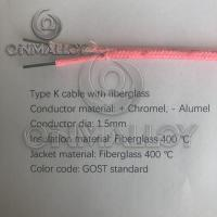 Wholesale GOST standard  Type K  thermocouple cable 1.5mm fiberglass insulation from china suppliers