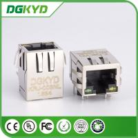 Wholesale Panel Mount Single Port RJ45 Ethernet Connector with 10/100base-T transformer, Led from china suppliers
