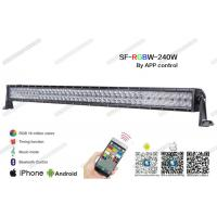 "Wholesale 41.5"" 240W Straight RGB LED Light Bar , Flood / Spot / Combo Beam 5D LED Light Bar 3w from china suppliers"