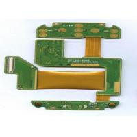 Wholesale FR4 + PI 4 Layer Rigid Flexible PCB ENIG Finish Green Masking White Lengend from china suppliers