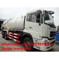 Wholesale factory direct sale best price dongfeng tianlong 6*4 16cbm vacuum truck for sale, 245hp 16cbm sludge tank truck for sale from china suppliers