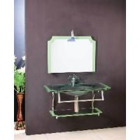 Wholesale Fashion Glass Basin Bathroom Vanity Cabinet (5155) from china suppliers