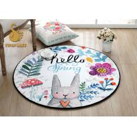 Wholesale Heat Transfer Printed Round Entrance Rugs Stain / Dirt Resistance from china suppliers