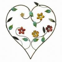Wholesale Heart-shaped Metal Craft, Flexible and High Hardness, Measures 36 x 19 x 18cm from china suppliers