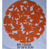 Wholesale Round Nonwoven Fabric Placemats With Anti-Bacterial And Flame Retardant from china suppliers