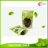Quality Custom Made Doypack / Bottom Gusset / Stand Up Plastic Bags , Green Tea packaging Bags for sale