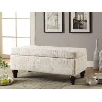 Wholesale Soft Rounded Corners Entryway Storage Bench With Bright Nail Head Trim from china suppliers