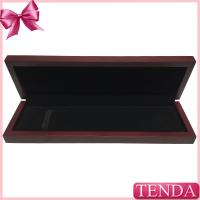 Wholesale Glossy Vanishing Lacquer Coated Painting Jewellery Wooden Bracelet Boxes with Elastic Band from china suppliers