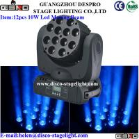 Wholesale 12pcs*10W LED Moving Head Wash with Beam , Concert Stage Light from china suppliers