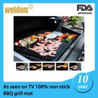 Wholesale Fire retardant resuable BBQ grill mats / outdoor bbq grills with Teflon fiberglass from china suppliers