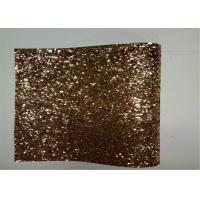 Wholesale Home Decoration Gold Glitter Fabric , Thick Glitter Fabric For Dresses from china suppliers
