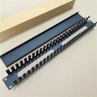Wholesale Thicken 19Inch Metal Cable Manager 25Port Wiring Rack Management from china suppliers