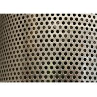 Wholesale Sliver Galvanized Perforated Metal Mesh ISO9001 Approval 2mm Round Hole from china suppliers