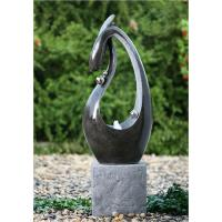 "Wholesale 46"" Black Marble Contemporary Outdoor Fountains For Home Decoration from china suppliers"