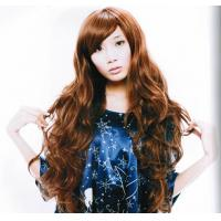 Wholesale Eco - friendly Extra Long Brown Asian Hair Wigss for Lady from china suppliers
