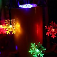 Wholesale Snowflake Decorative String Lights , Warm Color Solar Led Christmas Tree Light from china suppliers