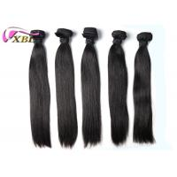 Wholesale Soft And Smooth Straight Brazilian Virgin Hair Weft Natural Black Without Tangle from china suppliers