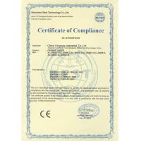 China Kingmax Industrial Co.,ltd. Certifications