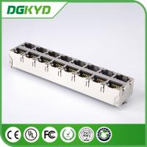 Quality KRJ -5921S28NL 180 Degree Vertical RJ45 Multiple Port Connectors No LED 0811-2X8T-28 for sale
