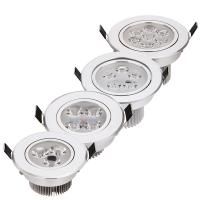 Wholesale 20pcs/lot best price 9W 12W 15W 21W dimmable LED downlights spotlightsAC85-265V silver 110-770LM Cold /Pure/Warm white from china suppliers