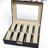 Wholesale 6 Watch Mens Watch Holder Box Inside Fabric , Luxury Watch Boxes For Men from china suppliers