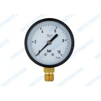 Wholesale 2.5 Inch Brass connection black steel case hydraulic gauge pressure from china suppliers