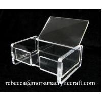 Wholesale Foshan factory supply transparent acrylic business card holder for office from china suppliers
