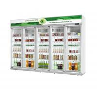 Buy cheap Danfoss Compressor White Large Commercial Refrigerator Glass Door For Beverage Cooler from wholesalers