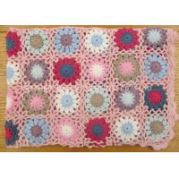 Wholesale Twill Pastoral Crochet Baby Girl Blanket Hollow Out Double Sided Baby Crochet Blankets from china suppliers