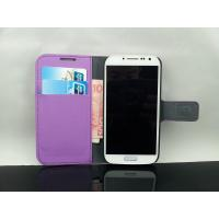 Wholesale Samsung Galaxy S4 Purple Wallet Flip Leather Case from china suppliers