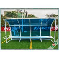 Wholesale Football Subs Bench Soccer Field Equipment For Outdoor 8 Seat Team Shelter from china suppliers