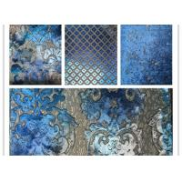 Wholesale Hand - Printed Polyester Velvet Fabric Cutting Velvet Jacquard Woven Fabric from china suppliers